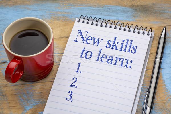 Neue Fähigkeiten lernen Liste Notebook Spirale Stock foto © PixelsAway