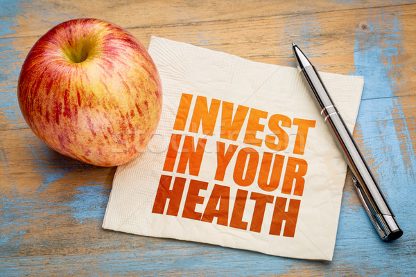 Invest in your health word abstract Stock photo © PixelsAway