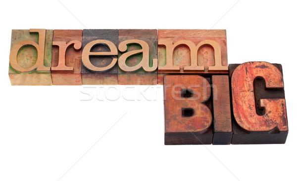 dream big  phrase in letterpress type Stock photo © PixelsAway
