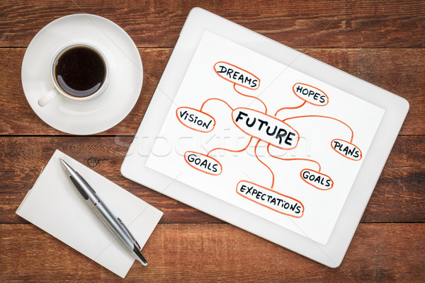 dreams, goals, plans and vision - shaping  the future concept Stock photo © PixelsAway