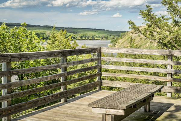 Scenic overlook of Niobrara RIver in Nebraska Stock photo © PixelsAway