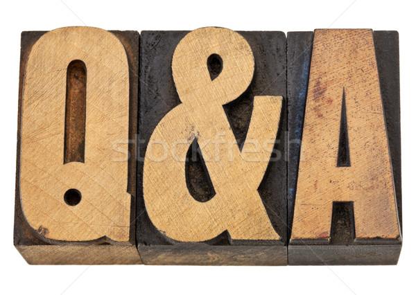 Kérdések válaszok betűszó izolált szöveg klasszikus Stock fotó © PixelsAway