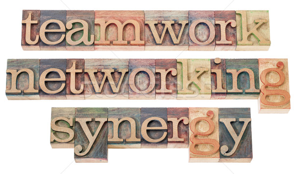 teamwork, networking and synergy Stock photo © PixelsAway
