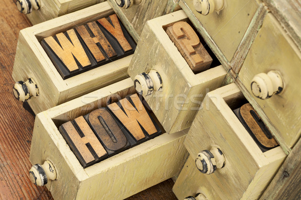 why and how questions Stock photo © PixelsAway