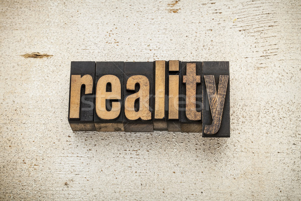 reality word in wood type Stock photo © PixelsAway