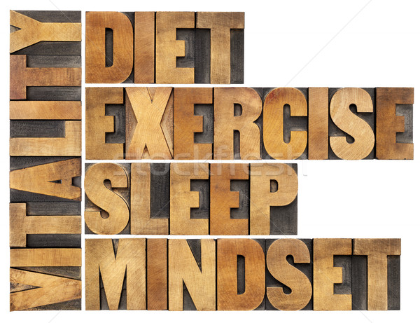diet, sleep, exercise and mindset - vitality Stock photo © PixelsAway