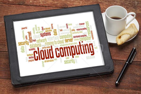 cloud computing word cloud Stock photo © PixelsAway