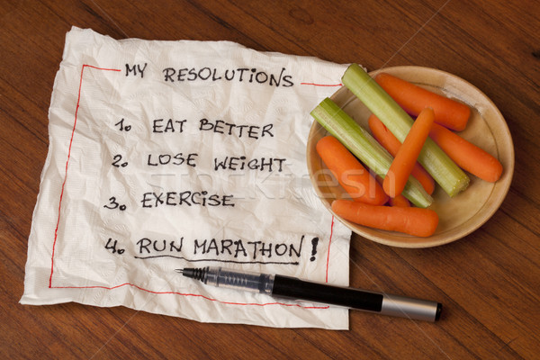 run marathon resolutions Stock photo © PixelsAway