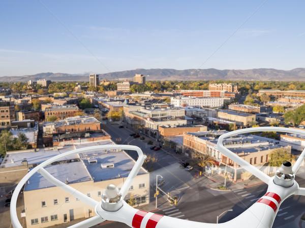 飛行 市 街 プライバシー 侵略 安全 ストックフォト © PixelsAway