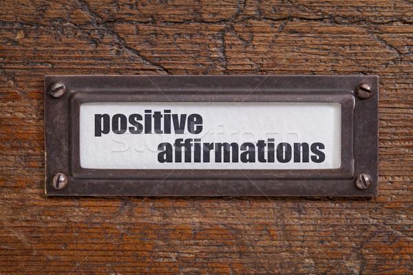positive affirmations - file cabinet label Stock photo © PixelsAway