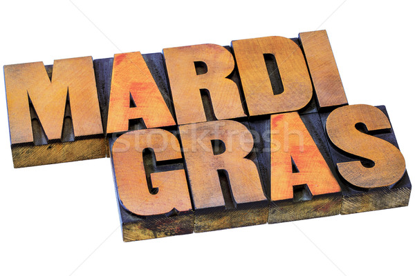 Mardi Grass letterpress typography Stock photo © PixelsAway