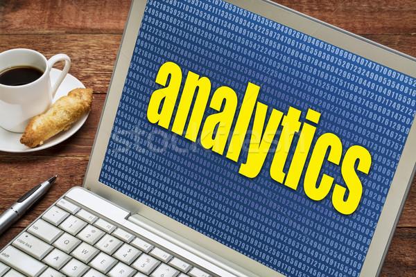 аналитика ноутбука слово случайный числа Кубок Сток-фото © PixelsAway