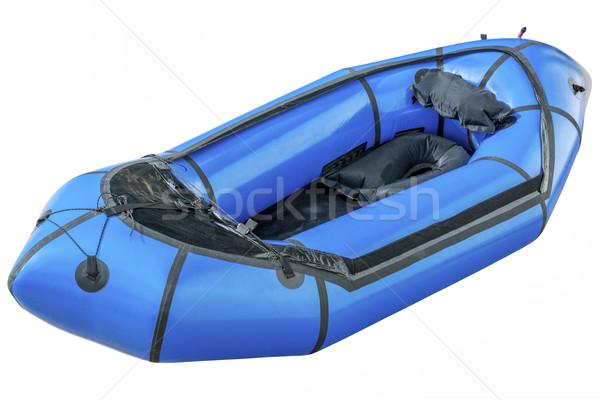 blue packraft isolated Stock photo © PixelsAway