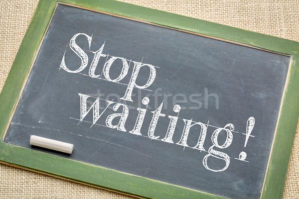 остановки ждет совет доске Vintage белый Сток-фото © PixelsAway