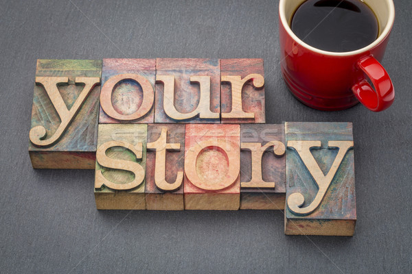 your story word abstract in wood type Stock photo © PixelsAway