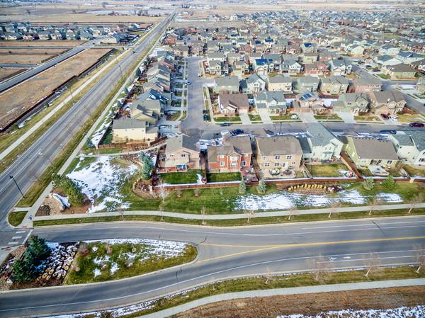house development aerial view Stock photo © PixelsAway