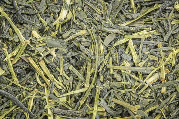 Zöld tea háttér textúra bő levél textúra japán Stock fotó © PixelsAway