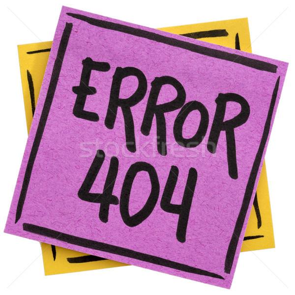 Hata 404 sayfa değil web imzalamak Stok fotoğraf © PixelsAway