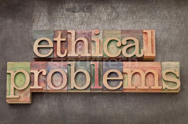 ético problemas madeira tipo texto vintage Foto stock © PixelsAway