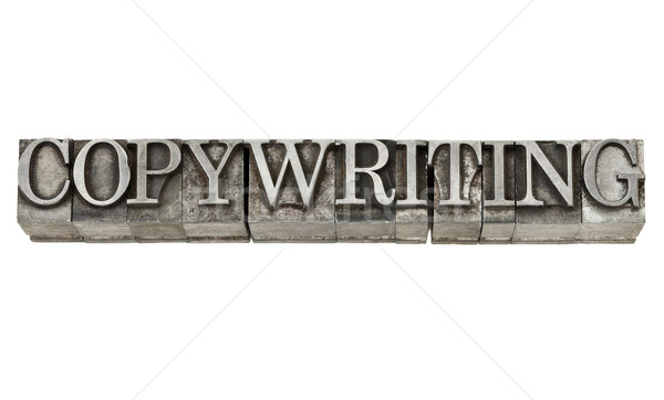 copywriting in metal type Stock photo © PixelsAway