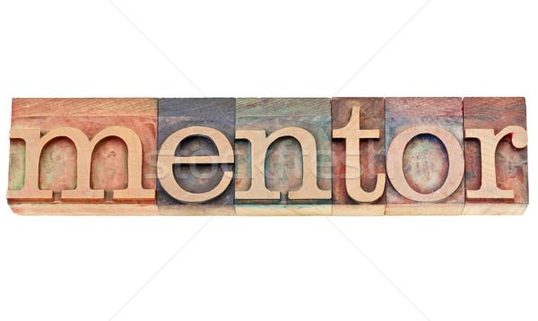 mentor word in letterpress wood type Stock photo © PixelsAway