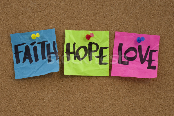 faith, hope and love Stock photo © PixelsAway