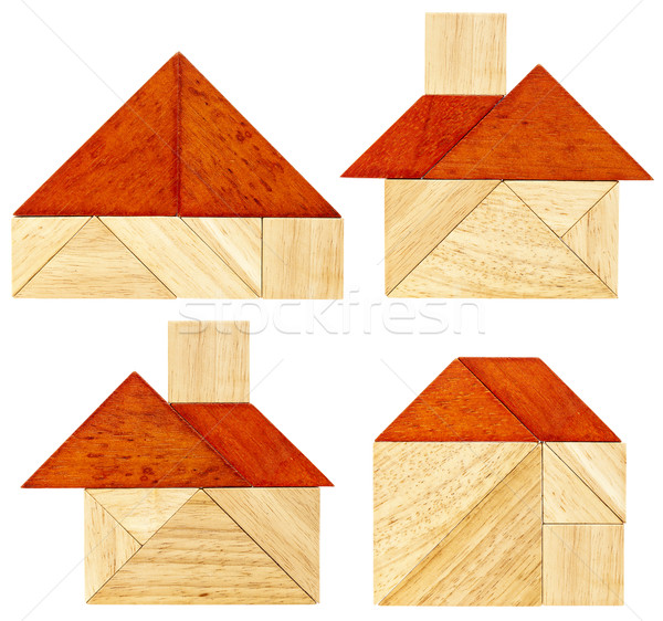 tangram house abstracts Stock photo © PixelsAway