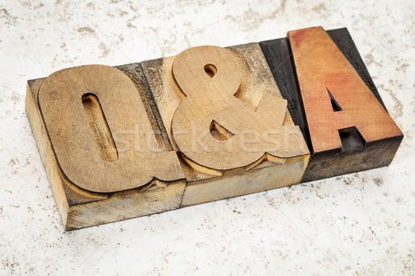Domande risposte legno tipo acronimo testo Foto d'archivio © PixelsAway