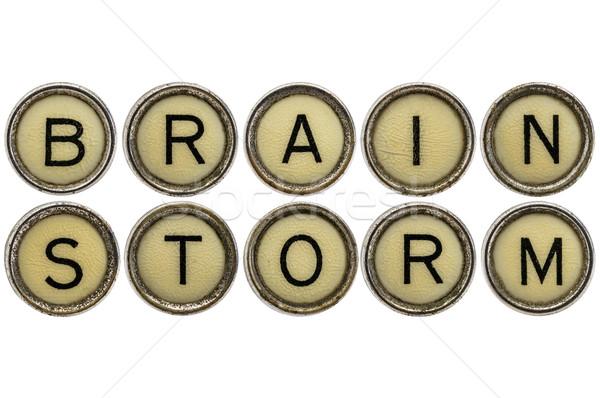 brainstorm word in  typewriter keys  Stock photo © PixelsAway