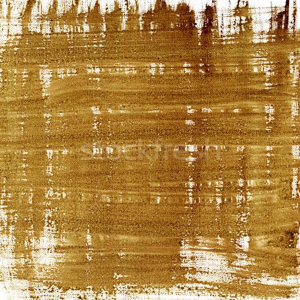 Kahverengi soyut tuval doku suluboya boyalı Stok fotoğraf © PixelsAway