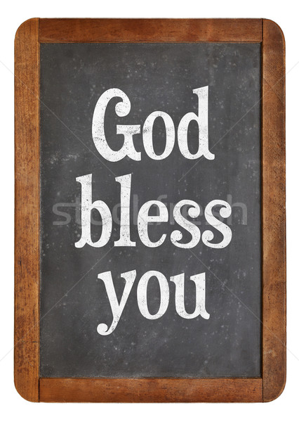 God bless you on blackboard Stock photo © PixelsAway