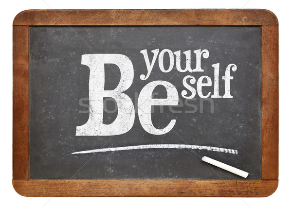 Be yourself blackboard sign Stock photo © PixelsAway