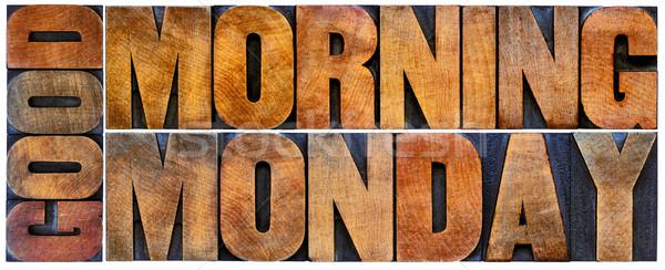 Sabah iyi kelime soyut yalıtılmış metin bağbozumu Stok fotoğraf © PixelsAway