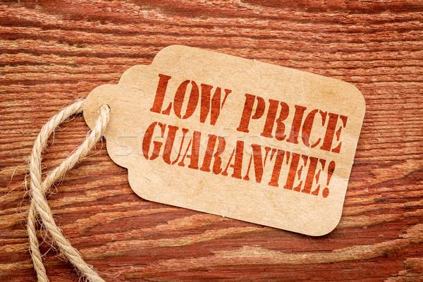Düşük fiyat garanti kâğıt etiket imzalamak Stok fotoğraf © PixelsAway