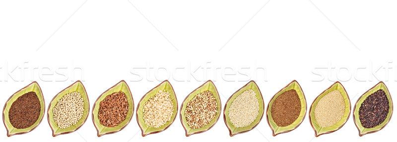 Glutensiz tahıl toplama dokuz siyah Stok fotoğraf © PixelsAway