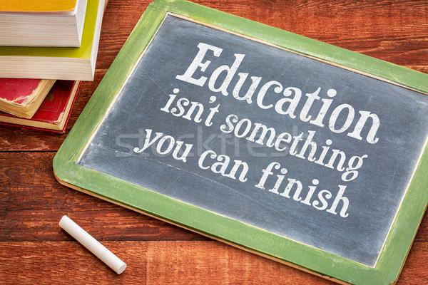 Istruzione non qualcosa può finire motivazionale Foto d'archivio © PixelsAway
