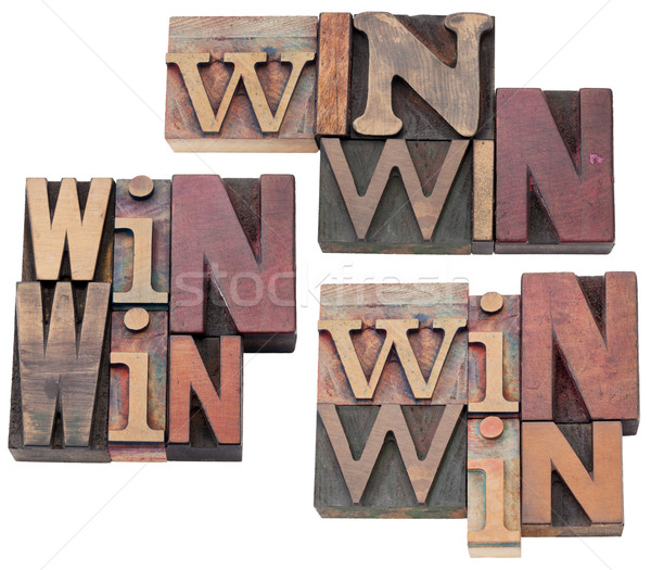 win-win strategy or compromise Stock photo © PixelsAway