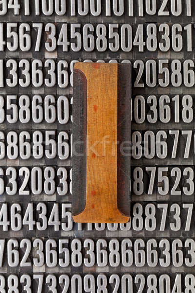 number one - numerical abstract Stock photo © PixelsAway