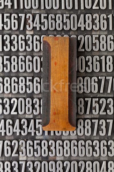 Сток-фото: численный · аннотация · Vintage · древесины