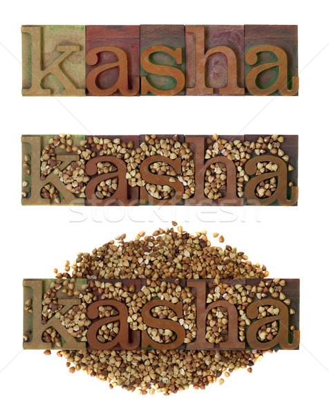kasha - roasted buckwheat Stock photo © PixelsAway