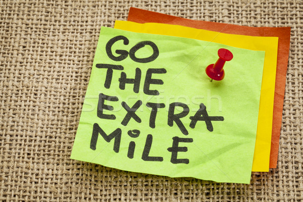 Stock photo: go the extra mile reminder