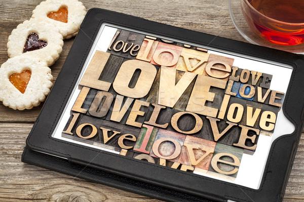 love word abstract typography Stock photo © PixelsAway