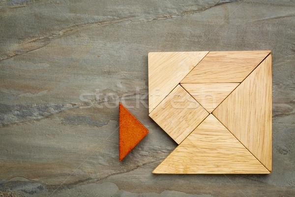 Manquant pièce carré pièces traditionnel chinois Photo stock © PixelsAway