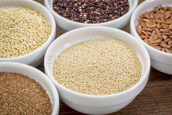 Glutensiz tahıl diğer kahverengi pirinç Stok fotoğraf © PixelsAway