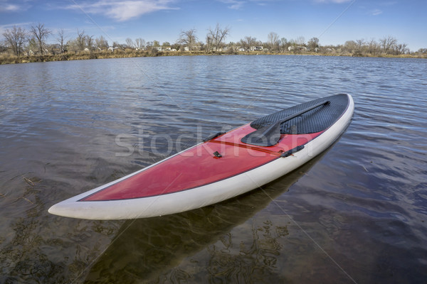 SUP paddleboard on lake shore Stock photo © PixelsAway