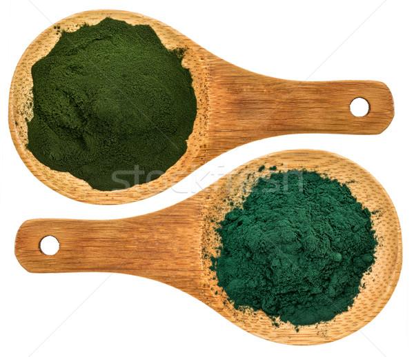 chlorella ans spirulina supplemt powder Stock photo © PixelsAway