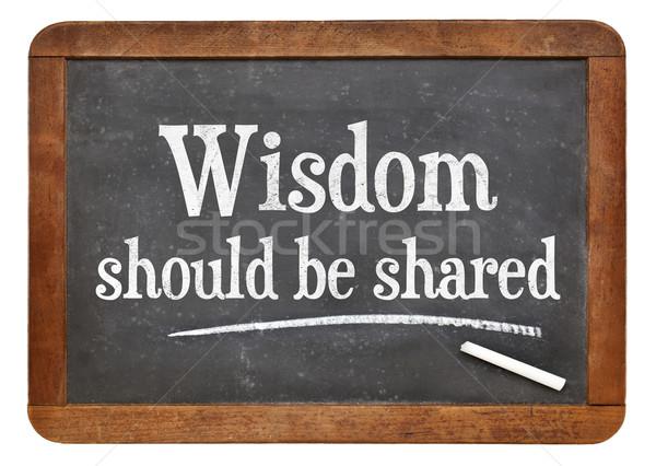 мудрость доске Вдохновенный текста белый мелом Сток-фото © PixelsAway