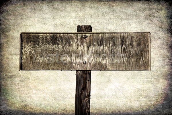 old faded wooden sign  Stock photo © PixelsAway