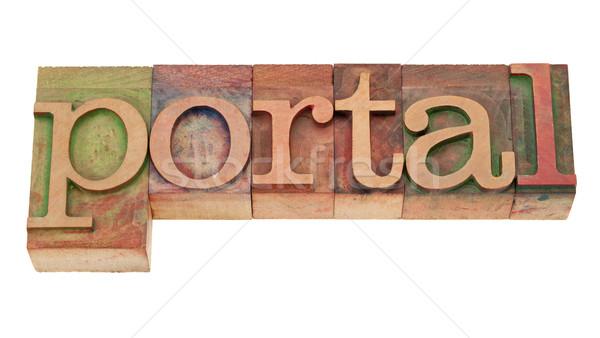 Portal palabra madera tipo Internet Foto stock © PixelsAway