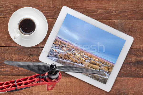 форт центра реке велосипедов тропе Сток-фото © PixelsAway